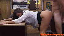 Broke classy mature pounded in office