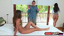india summer and eva lovia threesome sex with lucky guy