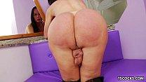 TS Paula D'Avila playing with her cock