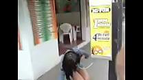 Bajo Minifalda Sin Calzon