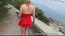 masturbation and flashing spain! in day Crazy