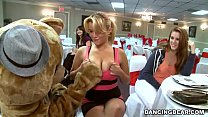 Big Dick Male Strippers and a Fluffy Dancing Bear Entertaining Women (db992