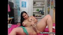 Chubby Latina Using Her Very Thick Toy