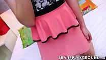 bed a on needs sexual her satisfy nat hottie shemale Asian