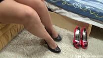 High heels test shoe fetish porn videos
