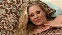 busty milf julia ann all by herself in stockings