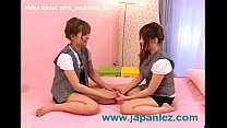 Girls in Pink Bedroom Can't Get Their Hands Off Each Other