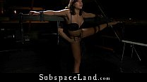 Disciplined teen slave tied and vibed is brutal...