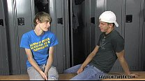 classmates doing it in the locker room – Free Porn Video
