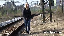 tai phim sex -xem phim sex Hot chicks get off panties for a pee in public