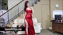 big tit redhead lauren phillips plays with her …