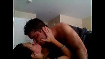 Amateur passionate couple in real homemade