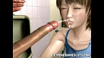 3D Ogre Cums on Japan Girl!