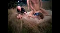Amateur submissive wife used by strangers outdoor