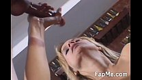 lovely milf knows how to strokes a cock