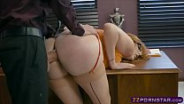 sexy office chick working on her promotion by …