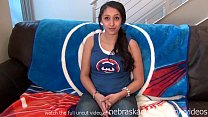 teen baseball fan first time nude on camera she...