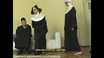 Sassy blond nun takes sexual punishment in the monastery porn videos