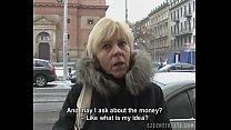 Czech milf gives a head for a horny cock