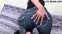 Wearing ripped jeans makes my pussy wet JOI
