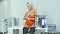 Euro gilf Roxana is your pantyless secretary