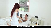 Hugwap.com TeensLoveAnal- Tatted RedHead Ass Fucked By Boy...