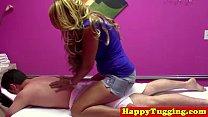 Asian spycam masseuse tugs dick porn videos