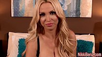 nikki benz gives sloppy birthday blowjob for facial