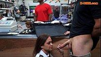 pawnshop the at railed stewardess latina amateur Sexy