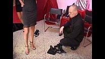 Celia Jones - threesome - in the shoe shop with J.B.