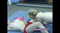 Raunchy Raven fucking a slut with her strapon