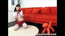 Horny schoolgirl Caprice masturbates after clas...