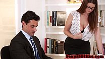 table on fucked getting secretary Busty