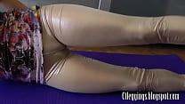 shiny leggings and cameltoe fetish