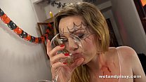 spooky watersports with hot and horny teen girl