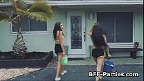 Big tit bikini car wash teen party