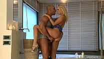 anal... time first her is casting cox Carla