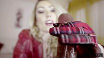 candy may strokes bbc with leather gloves
