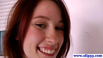 Barelylegal european beauty likes old cock