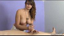 teen masseuse jerks off her client