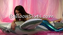 balloon dolphin on while pussy tight her fucks Lola