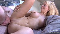 amateur busty french mom screwed and sodomized with cum on body by her neighbor