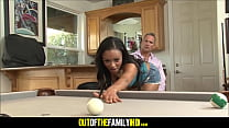 step dad cums on black daughters face