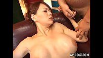 Toy fucking the brunette milf then cumming all ...