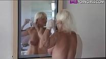 Girl headshave and masturbation - BaldPornGirls...
