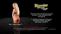 Sexy blonde Tasha Reign fucking a big dick
