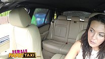 Female Fake Taxi Cheating hubby eats pussy in cab porn videos