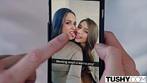 TUSHY Two Pretty Teens Seduce One of Their Sist...
