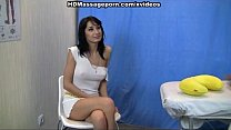 Exotic brunette in massage sex action