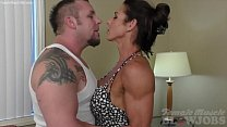 Sexy Female Bodybuilder Gives A Blow Job thumbnail